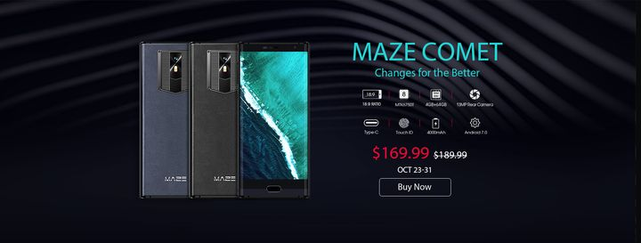 MAZE Comet: Leather Back and 18:9 Display - Price, Specs, Performance