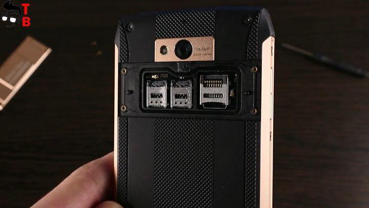 Blackview BV8000 Pro microSD slot