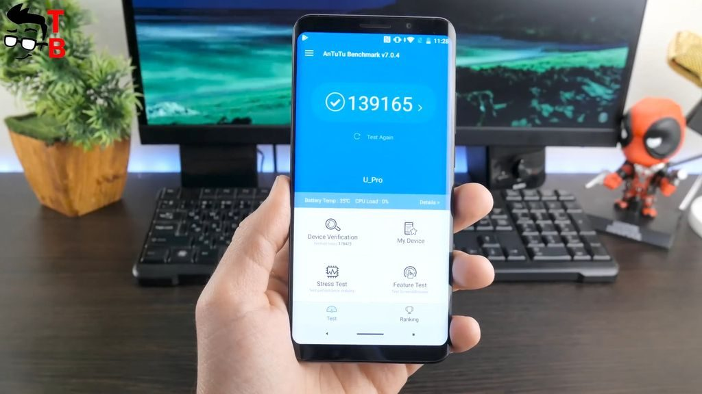 Elephone U Pro REVIEW antutu benchmark