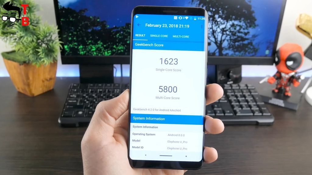 Elephone U Pro REVIEW geekbench 4 benchmark