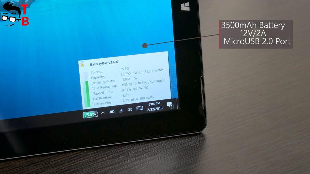 Jumper EZpad 6 Plus Review battery