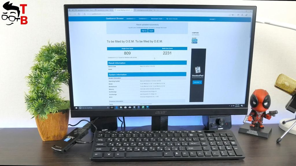 ACEPC T5 REVIEW performance geekbench 4