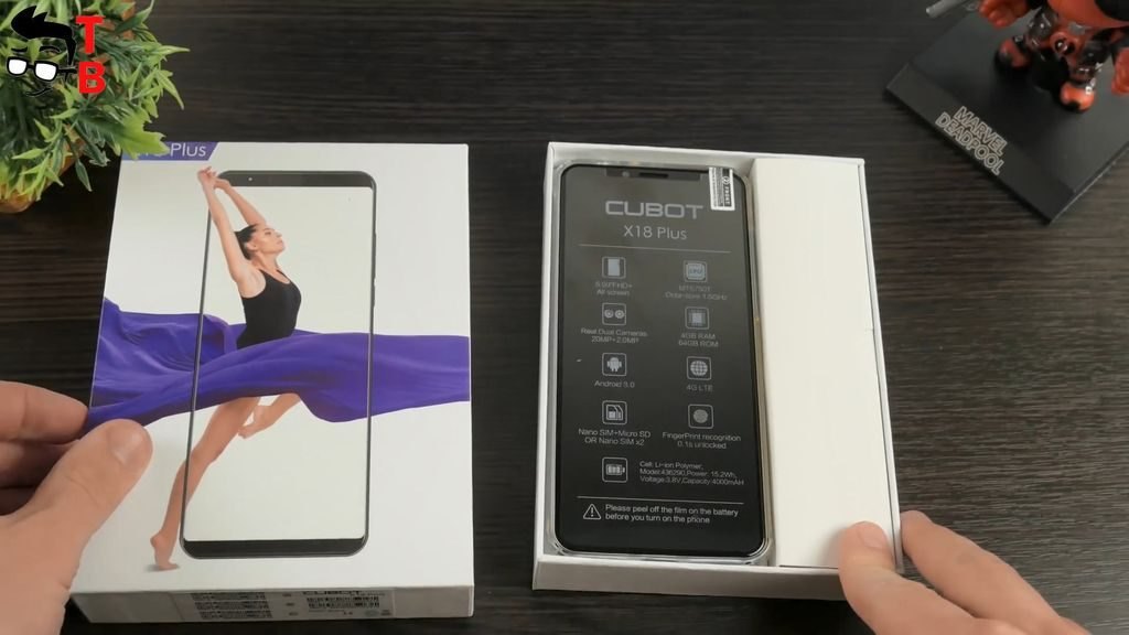 Cubot X18 Plus REVIEW package box