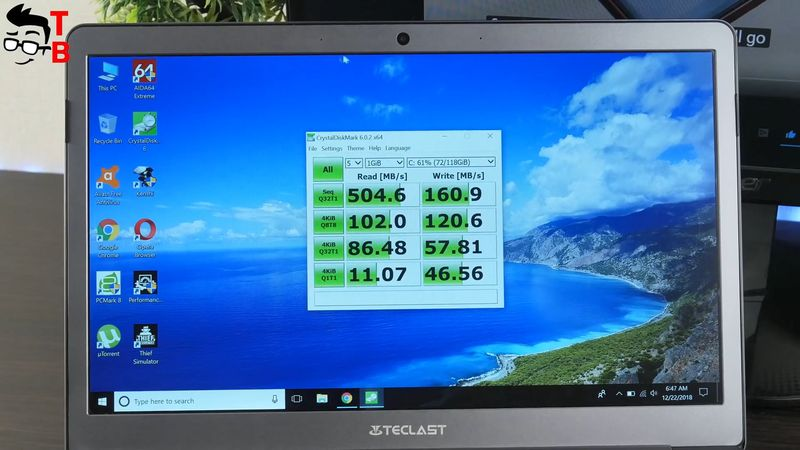 Teclast F6 REVIEW memory speed test