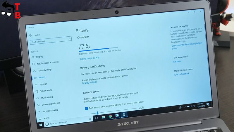 Teclast F6 REVIEW battery