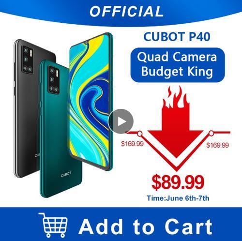 Cubot P40 Rear Quad Camera 20MP Selfie Smartphone - Aliexpress