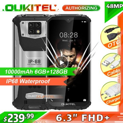 OUKITEL WP6 10000mAh 6.3'' FHD+ IP68 Waterproof Mobile Phone - Aliexpress