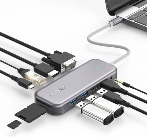 BlitzWolf BW-TH8 11 in 1 USB-C Data Hub - Banggood