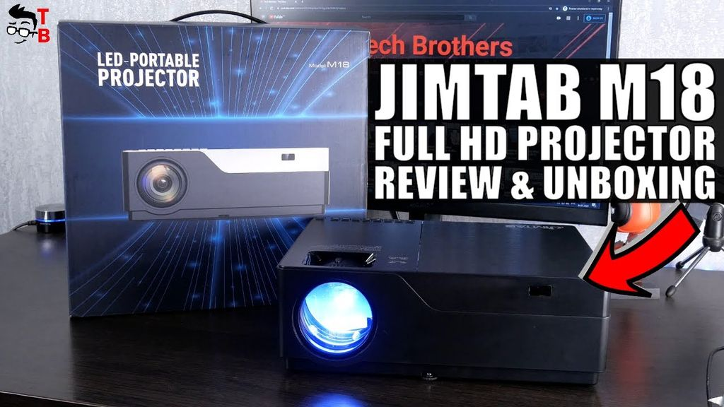 JIMTAB M18 REVIEW: Is this projector GOOD for home theater?