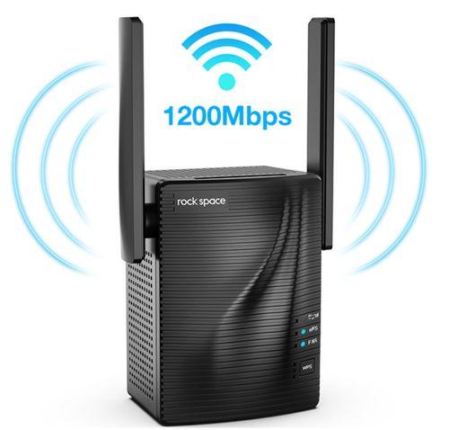 ROCK SPACE AC1200 1200Mbps WiFi Range Extender   COUPON: EDAKH8YZ