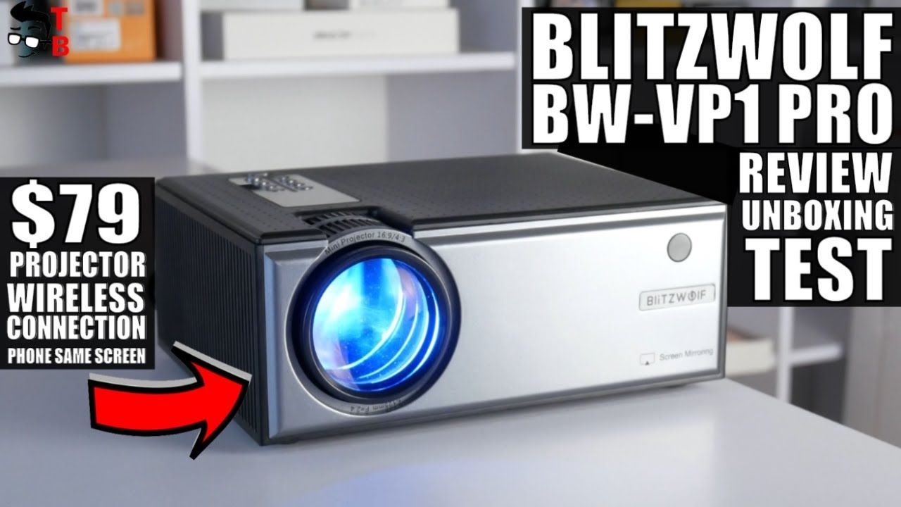Blitzwolf BW-VP1 Pro REVIEW: This $80 Projector Is Great!