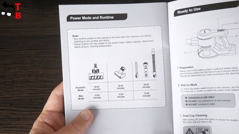 There is also a user manual in the package, and I recommend you read it before using a vacuum cleaner.