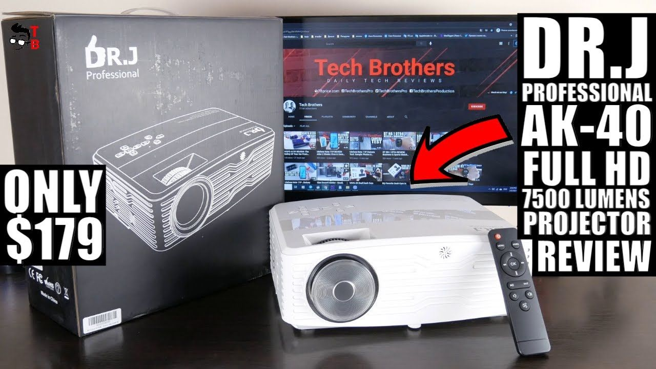 DR.J Professional AK-40 Full REVIEW: Budget Full HD Projector 2021!