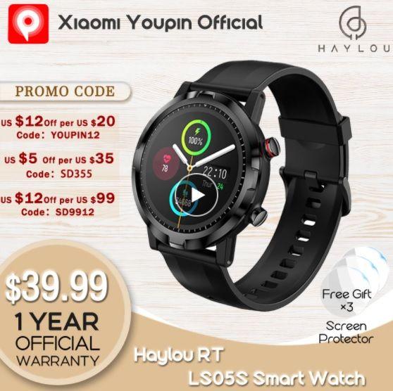 Youpin Haylou RT LS05S Smartwatch - Aliexpress