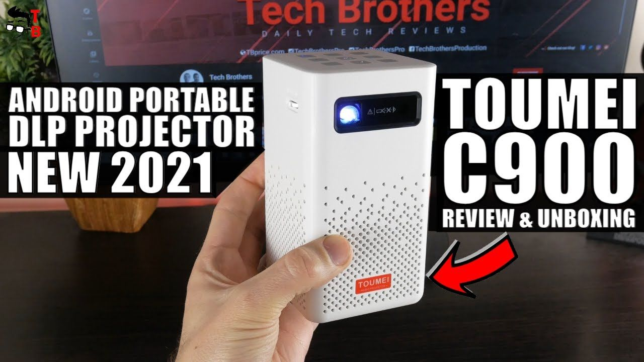Toumei C900 Full REVIEW: Best Portable Android Projector 2021!