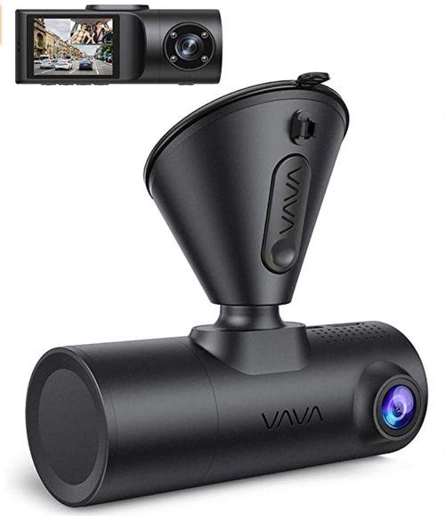 Dual Dash Cam, VAVA 2K Front and 1080P Cabin - Amazon