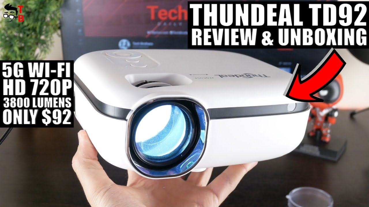 Thundeal TD92 REVIEW: Budget Multi-Screen Wi-Fi Projector 2021!