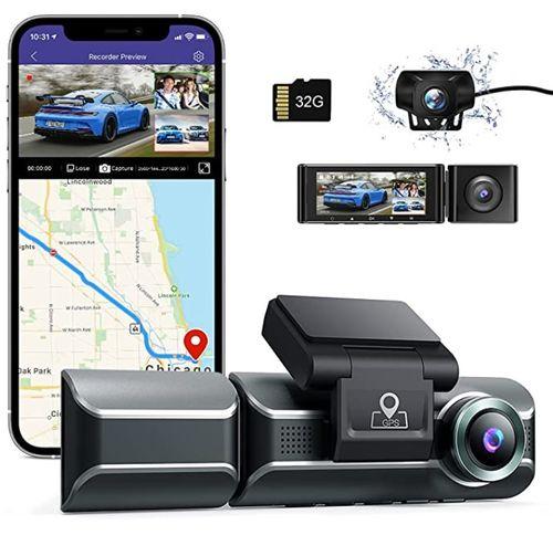 AZDOME M550 Dash Cam 3 Channel - Amazon
