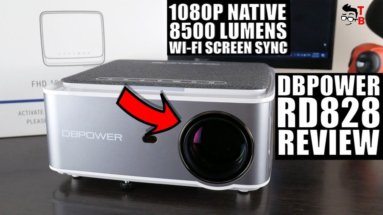 High Quality Full HD Projector 2021! DBPOWER RD828 Full REVIEW