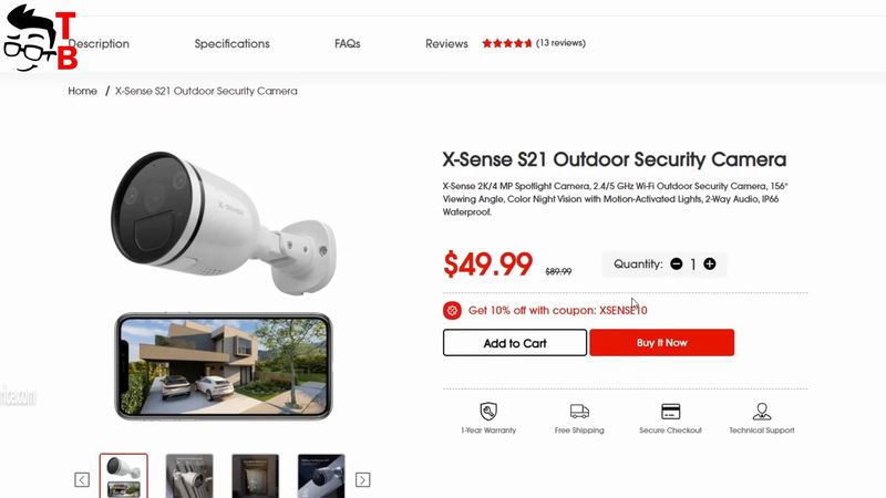 X-Sense S21 Outdoor Security Camera REVIEW: Best Video Quality At Night!